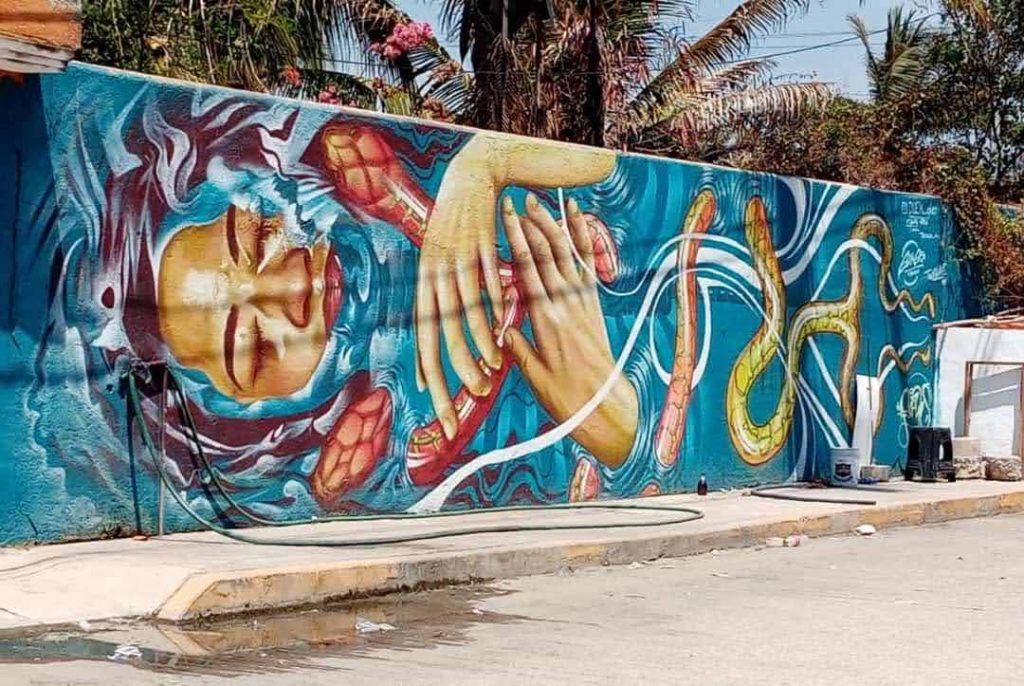 Graffiti Wall ZX, Playa Bonfil, 2022; Graffiti art in Acapulco, GRO., MX